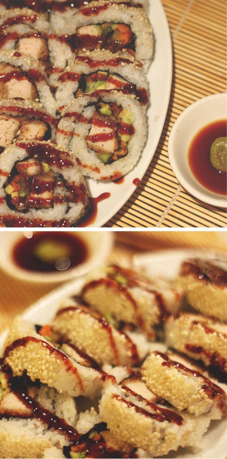 Teriyaki Chicken Sushi #allergies