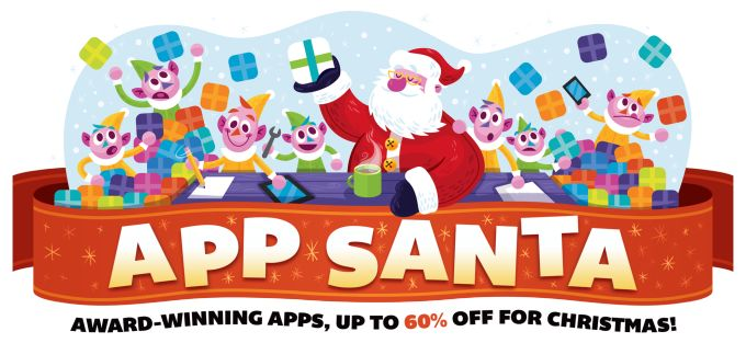 App Santa Promo Drops Prices On 20 Top iOS And Mac AppsThere are a number of holiday app sales now running as mobile developers slash prices in hopes of reaching potentialcustomers who will soon be unwrapping smartphones for Christmas. But one of the better promotions starting today is called App Santa and involves a group of indie developers behind some of the most popular applications on the iOS and Mac App Stores. The group Read More