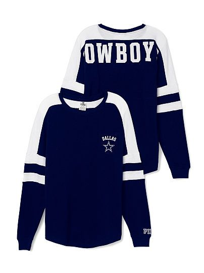 Dallas Cowboys Pocket Varsity Crew PINK  #luflifave #lufliboutique