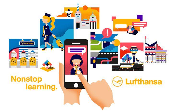Illustration by www.danielramirezperez.com #Lufthansa #Illustration #iconic #geometric
