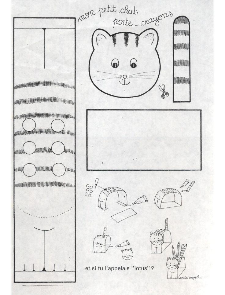 petit chat porte crayons