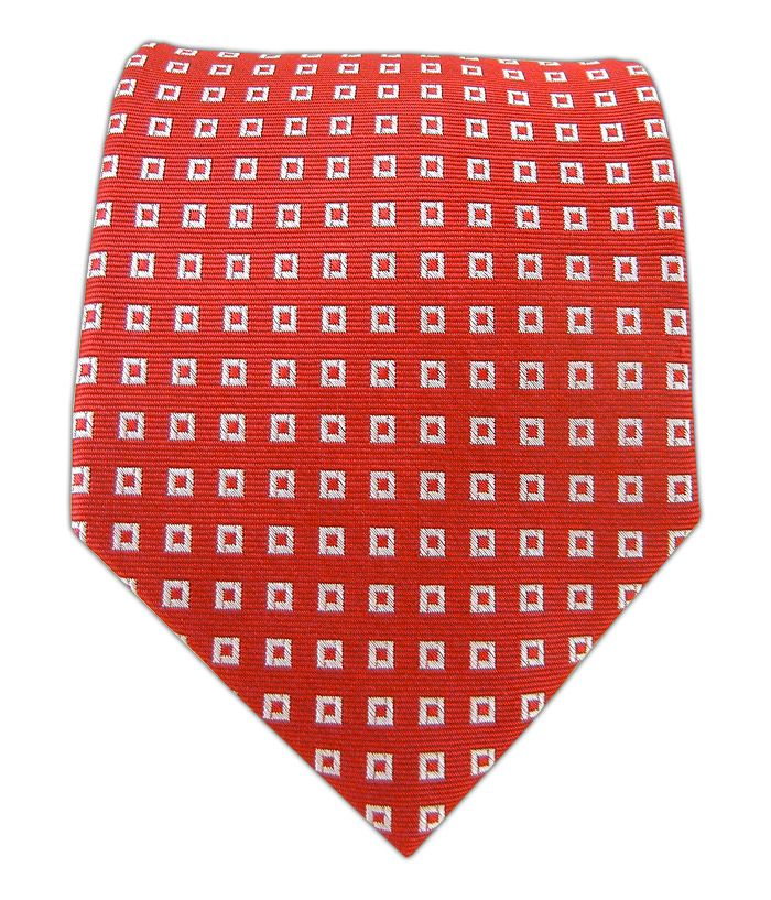 Homeland 2 - $15.00 TheTieBar.com Piazze - Red - Piazze - Red Ties  Not one to steal the spotlight with his style, Brody goes with classic geometric patterns that blend in with most of the guys on Capital Hill.
