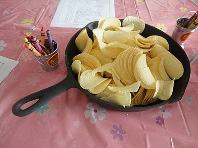 Serve food in skillets for a Tangled party!