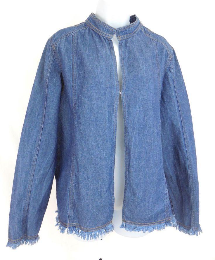 Oversized denim jacket size 16 – Modern fashion jacket photo blog