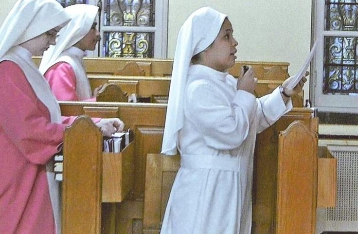 Angela Hiracheta makes profession of faith with 'Pink Sisters' :: Diocese of Corpus Christi (Corpus Christi, TX)