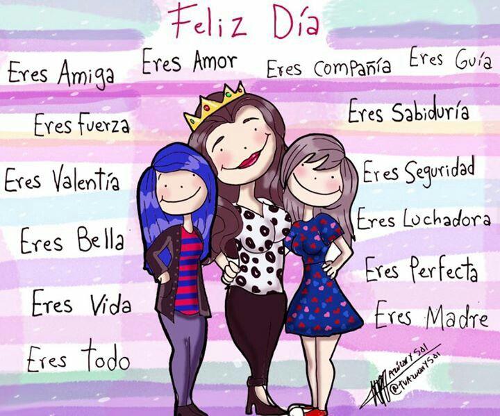 Feliz dia mama caricaturas Pinterest Tes and Feliz dia mama