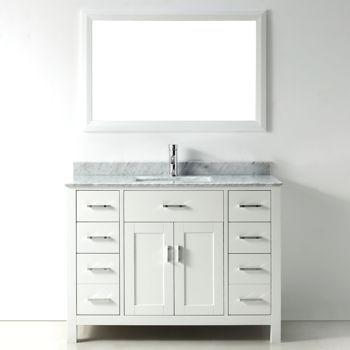 Studio Bathe Kalize White Single Vanity with Mirror