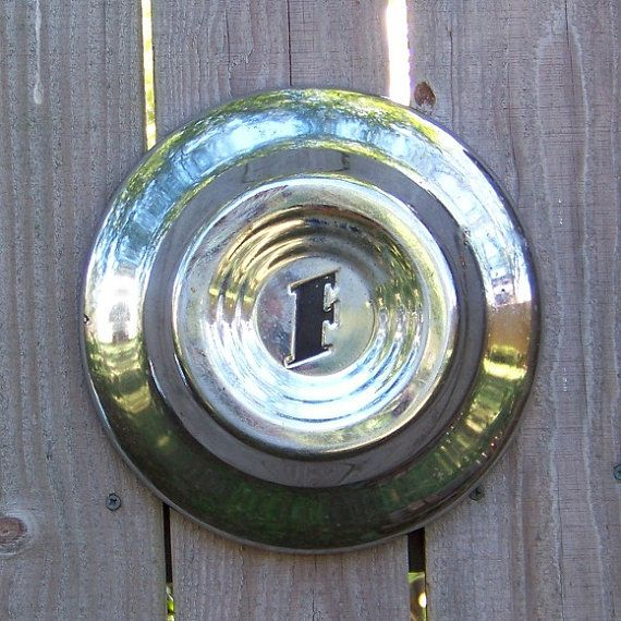 Ford Hubcap 1951 Vintage Letter F Letters Letter F And
