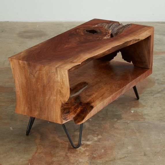Urban Hardwoods walnut single slab 4 fold side table
