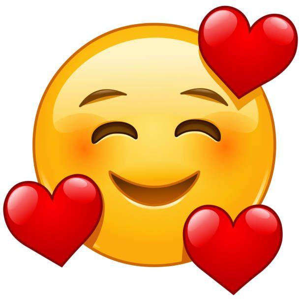 Smiling Face With Three Hearts Emoji Emoticon In 2020 Emoji Free Vector Graphics Cool Emoji
