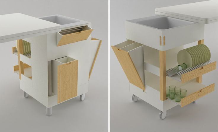 Futuristic Kitchen Concept for Small Room Layout – Rubica by Lodovico Bernardi | DigsDigs