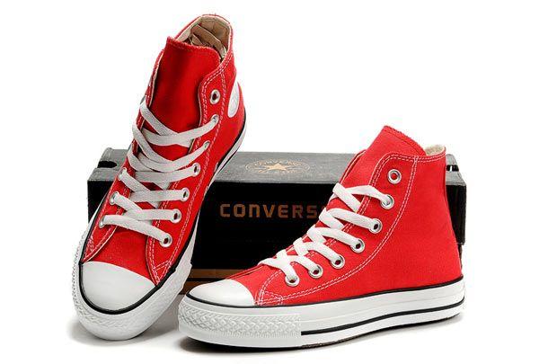red converse hi top
