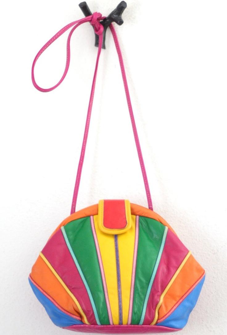 rainbow art deco esque purse