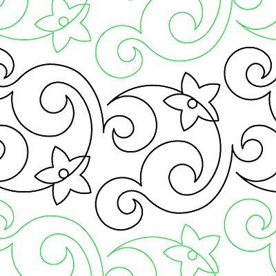 "Passion Fruit - Paper - 9.5"" - Quilts Complete - Continuous Line Quilting Patterns"