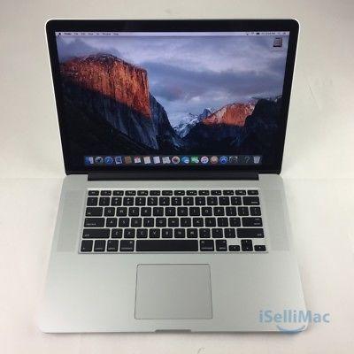 """Apple 2015 MacBook Pro Retina 15"""" 2.2GHz I7 256GB SSD 16GB MJLQ2LL/A  C Grade"""