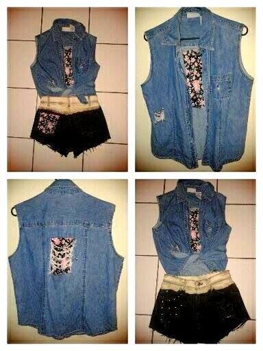 blusa estampada de flores vintage !! short vintage