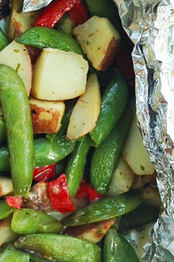 Garden Vegetable Medley Foil-Pack - Green Giant Steamers Garden Vegetable Medley with sugar snap peas, roasted potatoes, red peppers and garden herbs!