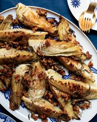 Roasted Cabbage with Warm Walnut-Rosemary Dressing Recipe from Food & Wine- Roasting