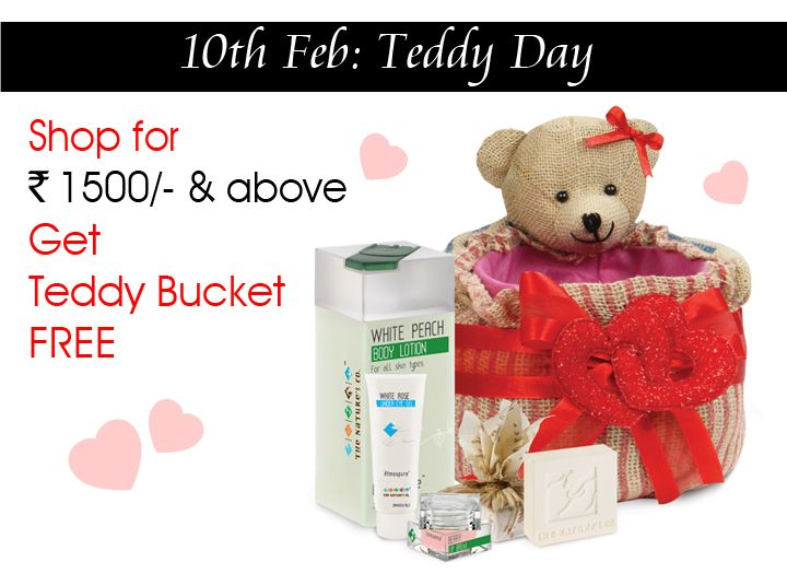 10th Feb and its #TeddyDay…half way through our Valentine Week…  Get this Teddy Packaging free when you shop for Rs. 1500/- and more on www.thenaturesco.com  Happy Teddy Day! #Cute #Love #Valentines #SpreadLove #LoveisintheAir #Lover #Pamper