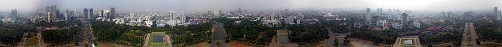 view from Monas, Monumen Nasional - Wikipedia bahasa Indonesia, ensiklopedia bebas