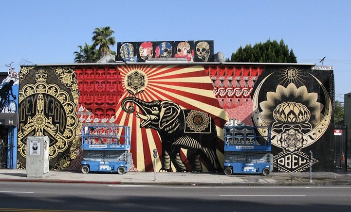 Urban Street Art: Shepard Fairey Hits Melrose Avenue (4 photos) - My Modern Metropolis ^_^