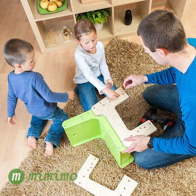Rostoucí židle mimimo - montáž zvládnou i děti... :-)#RostouciNabytek #nabytek #deti #zidle #DetskyNabytek #mimimo #detskypokoj