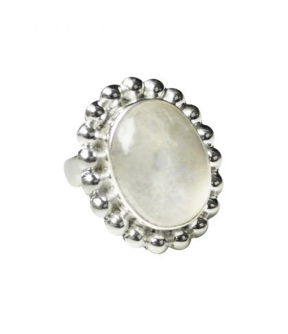 Moonstone set in sterling silver with an open band ring fits all fingers x  http://melaniewoods.com/product/moonstone-mexicana-gemstone-ring