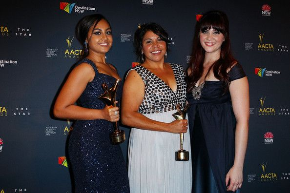 Jessica Mauboy Photos Photos - Jessica Mauboy, Deborah Mailman and Shari Sebbens celebrate 'The Sapphires' winning the AACTA Award for Best Film at the 2nd Annual AACTA Awards at The Star on January 30, 2013 in Sydney, Australia. - 2nd Annual AACTA Awards - Arrivals & Awards Room