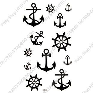 Free Shipping Waterproof Tattoo Stickers Anchor Personality Sexy Waist Tattoos Fake Style Fake Tattoo Tattoo Ink Beauty New 2013
