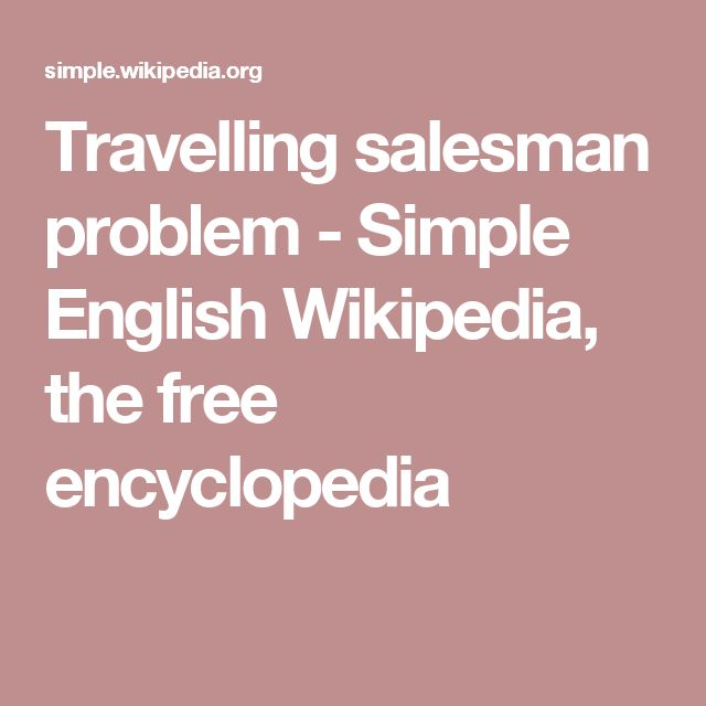 wiki  traveling salesman problem
