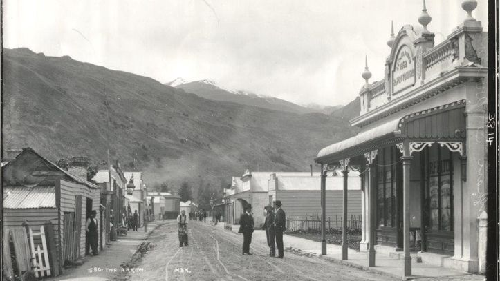 Arrowtown's Buckingham Street  - the building on the left is now the Pharmacy