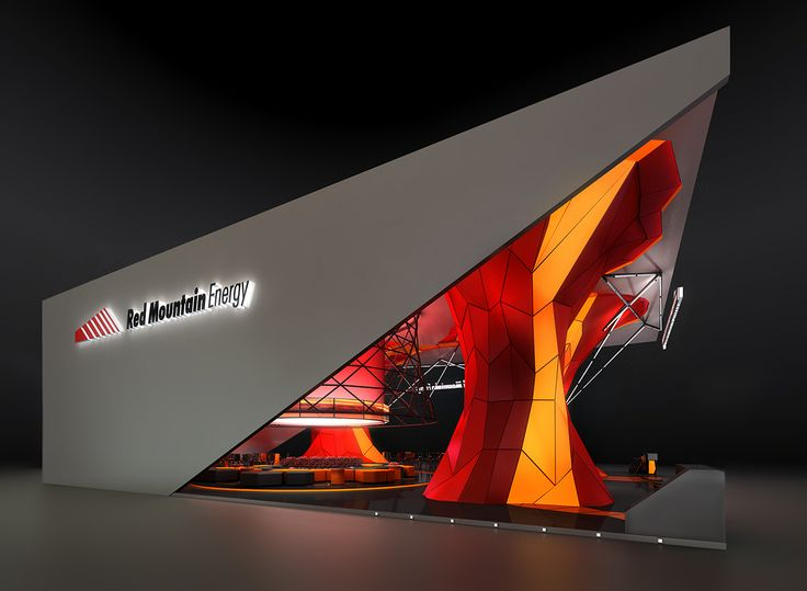 """Red Mountain Energy"" company exhibition stand concept.                                                                                                                                                     More"