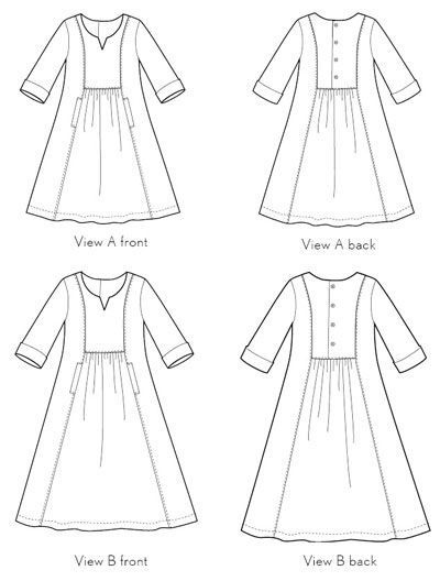 Digital Cinema Dress Sewing Pattern | Sewing Pattern Shop | Oliver + S