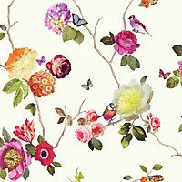 Charmed White Multicoloured Wallpaper