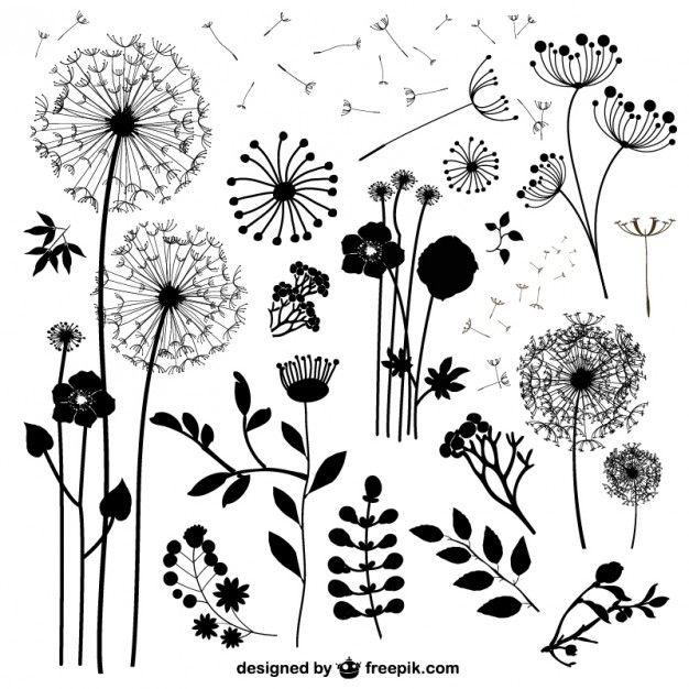 flores silvestres, vector gratis
