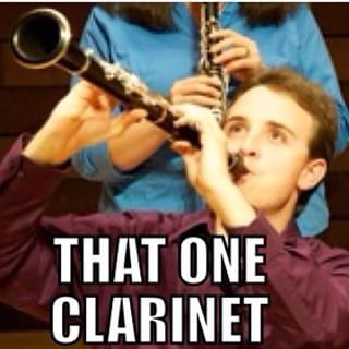 When some fourth-chair in your band thinks he's Benny Goodman. | 23 Struggles All Clarinet Players Know Too Well