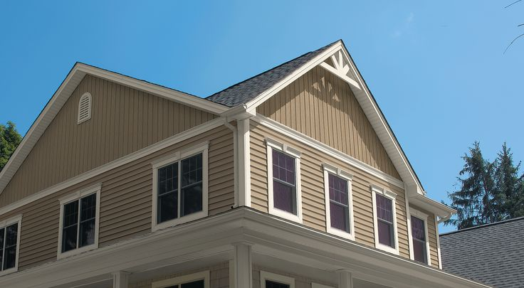 Harvest Wheat Board And Batten Siding With Almond Trim