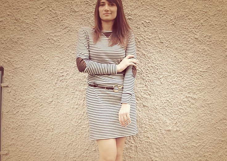 Cotton jersey dress. For the free pattern visit http://wp.me/p4OV6a-3A