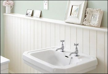 adding function with a shelf perhaps? hmmm...don't know how it would work all around the bathroom, but it's something to keep in mind.