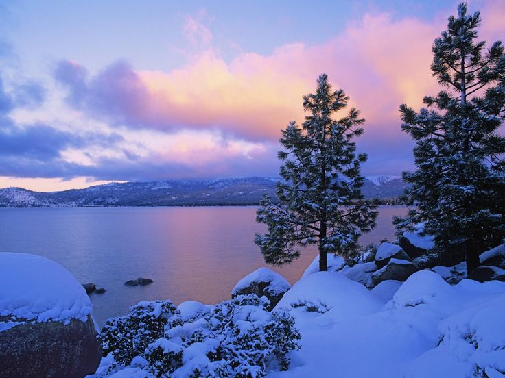 Colors Of Winter Lake Tahoe Picture Photo Wallpaper