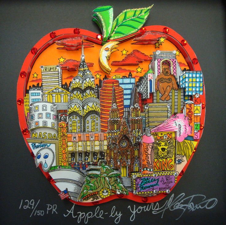 "Charles Fazzino ""Apple"""