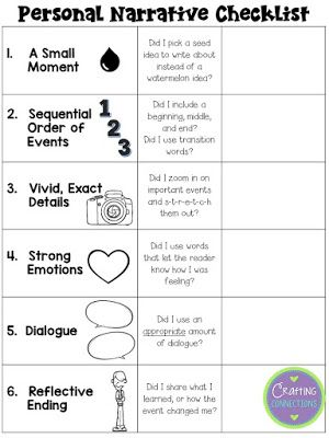 Worksheet Story Writing For Grade 3 best 25 personal narrative writing ideas on pinterest free checklist for writers in grades 3 6 students can use this