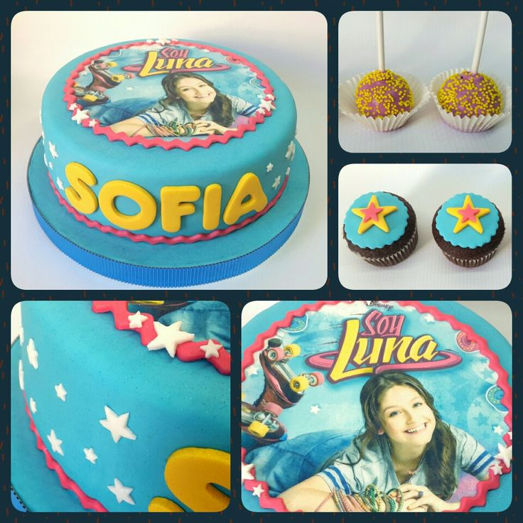 Combo Soy Luna #PrityCakes #cakes #edibleprintsoncake #fondant #cupcakes #malvapops #soyluna #soylunadisney #disney