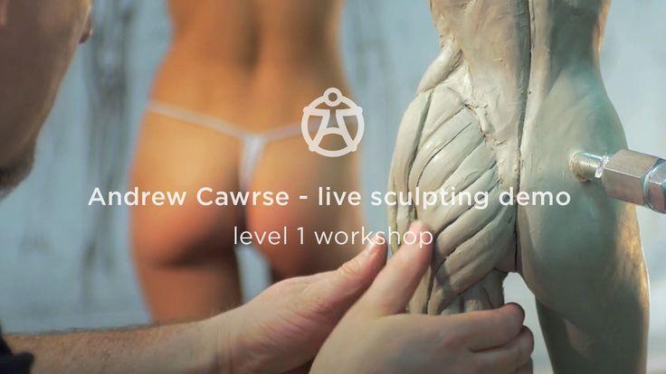 Andrew Cawrse live sculpting demo