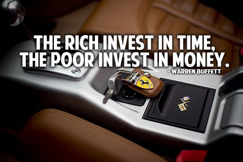 The rich invest in time, the poor invest in money. – Warren Buffet  http://www.prosperityteam.co/freevideoreveals/?id=mrhomebiz&tag=