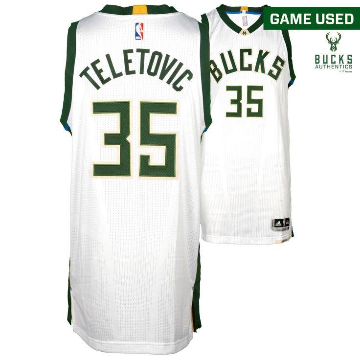 Mirza Teletovic Milwaukee Bucks Fanatics Authentic Game-Used #35 White Jersey vs. Golden State Warriors on November 19, 2016 - $749.99
