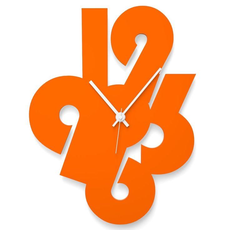 Wall Clock MINIMALISTIC NUMBERS by Wandkings
