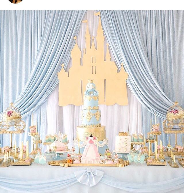 Cinderella dessert table