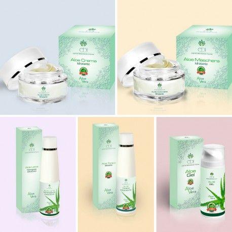 Linea viso completa di prodotti biologici per il viso a base di Aloe Vera