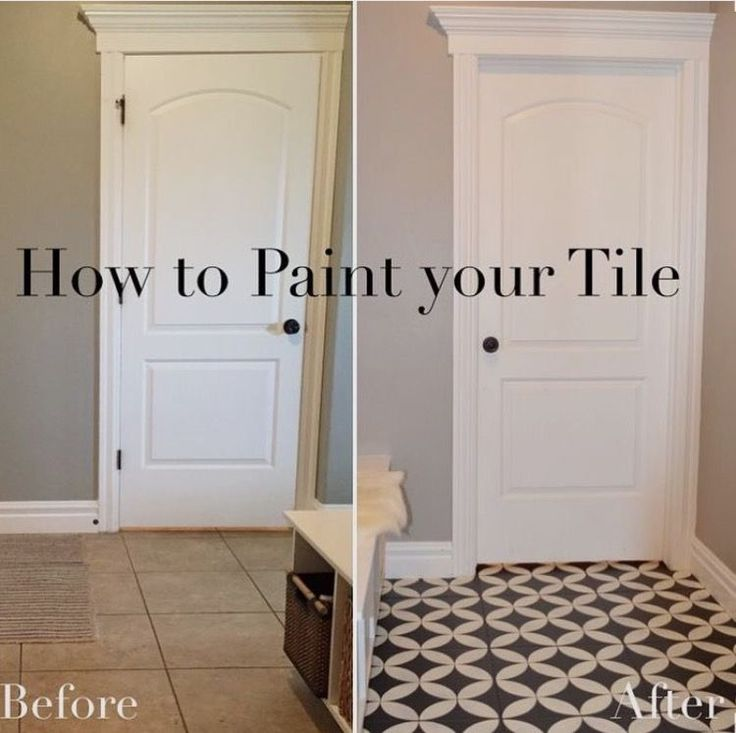 The Girl Who Painted Her Tile... What & 25+ best Painted floor tiles ideas on Pinterest | Painted kitchen ... Pezcame.Com